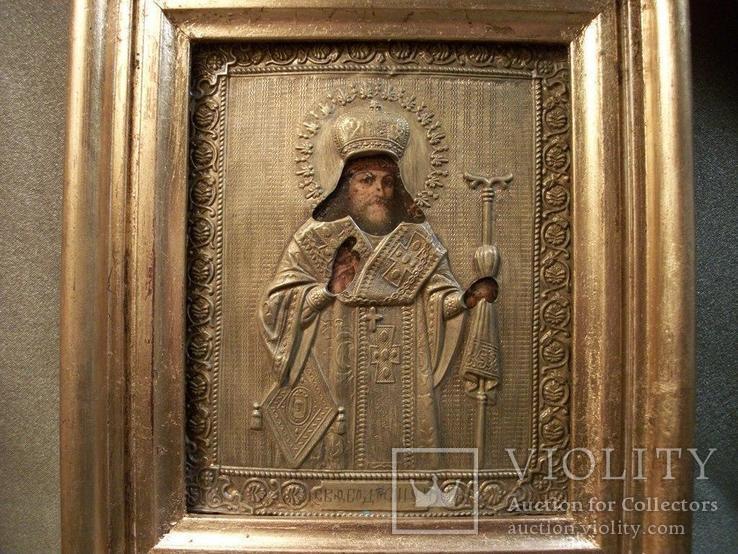 419 Икона Феодосий Черниговский, литография., фото №5