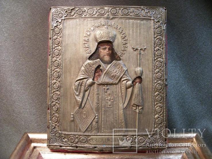 419 Икона Феодосий Черниговский, литография., фото №6
