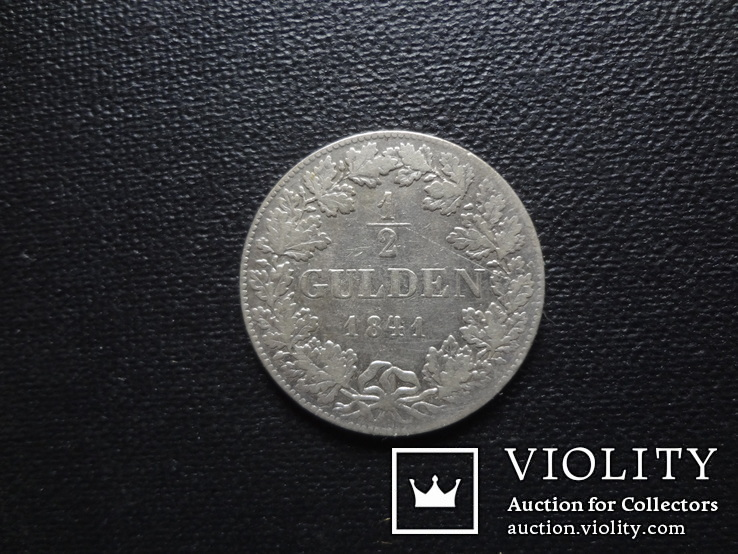 1/2 гульдена 1841 Гессен серебро (О.2.22)~, фото №3