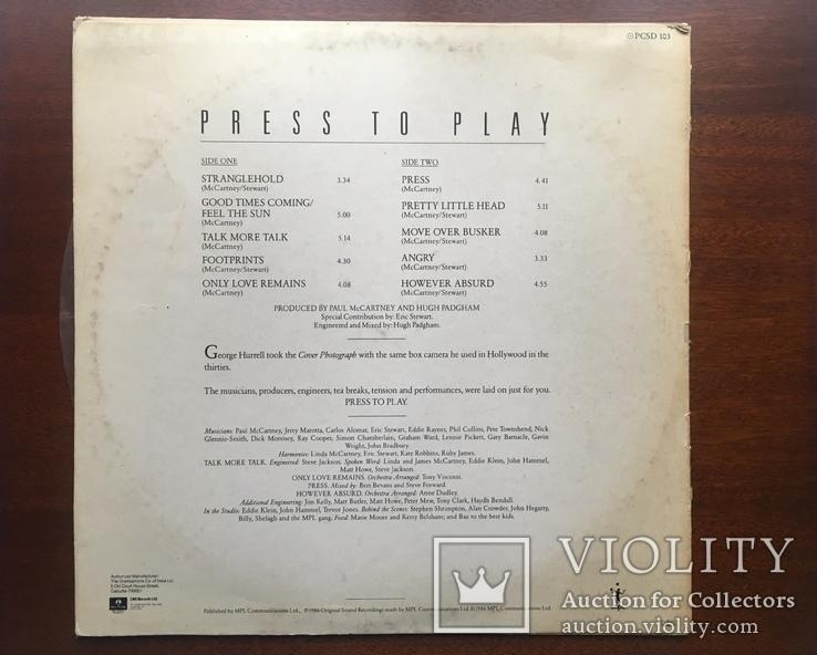 Paul McCartney Press to play 1986, фото №6