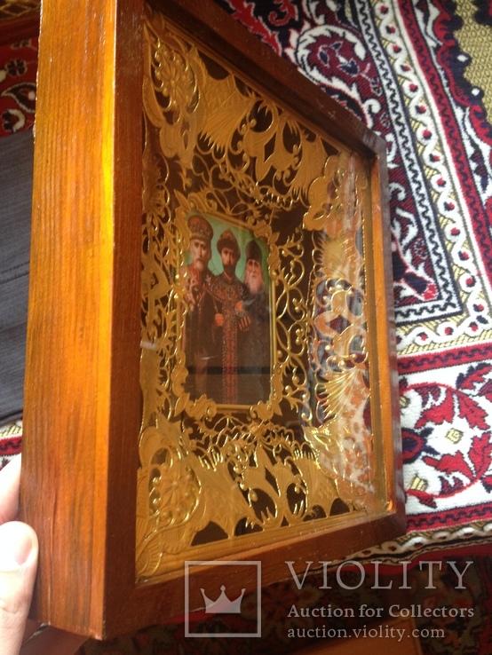 Икона Николай Угодник, Царь-Искупитель Николай Второй и Николай Псковоезерский Искупление, фото №6