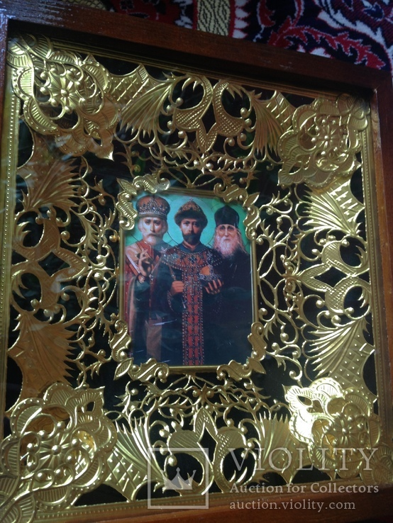Икона Николай Угодник, Царь-Искупитель Николай Второй и Николай Псковоезерский Искупление, фото №2