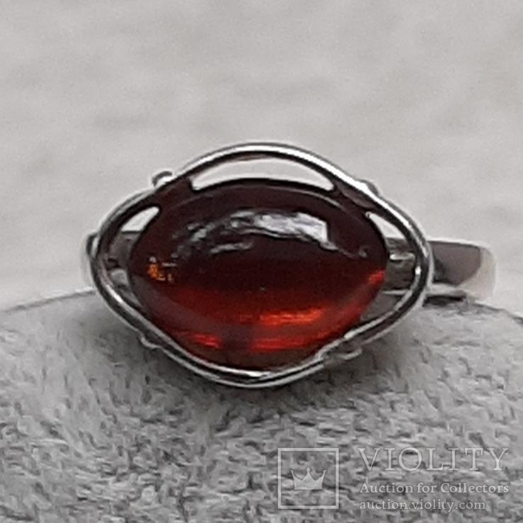 Кольцо р.17,5   Калининградский янтарь, фото №4