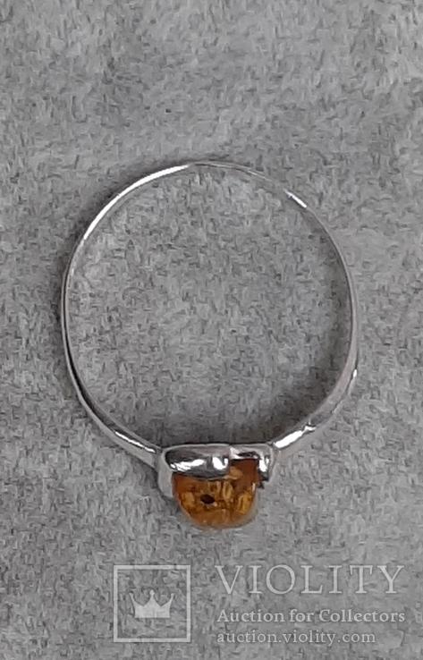 Кольцо р.20 Калининградский янтарь, фото №4