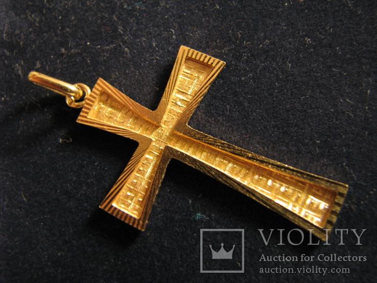 Крест.Золото 750.Франция., фото №2