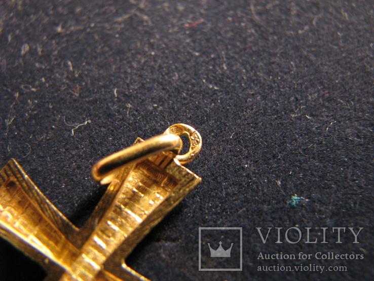 Крест.Золото 750.Франция., фото №4