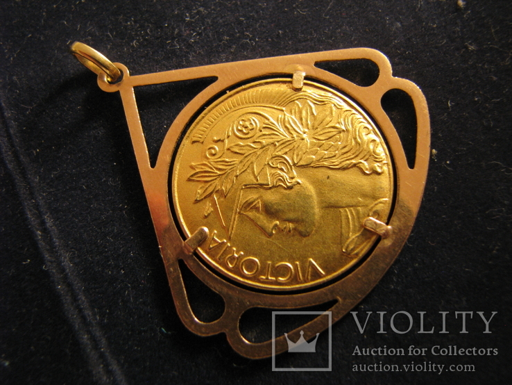 """Кулон """"Победа"""" Золото 750.Франция., фото №2"""