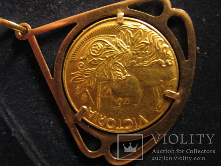 """Кулон """"Победа"""" Золото 750.Франция., фото №3"""