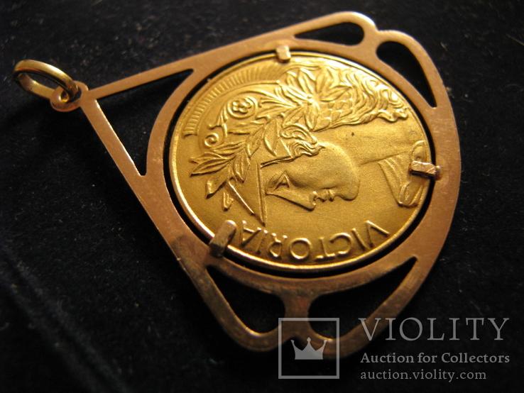 """Кулон """"Победа"""" Золото 750.Франция., фото №4"""