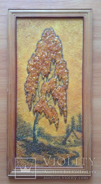 Картина Дерево. Янтарь., фото №2