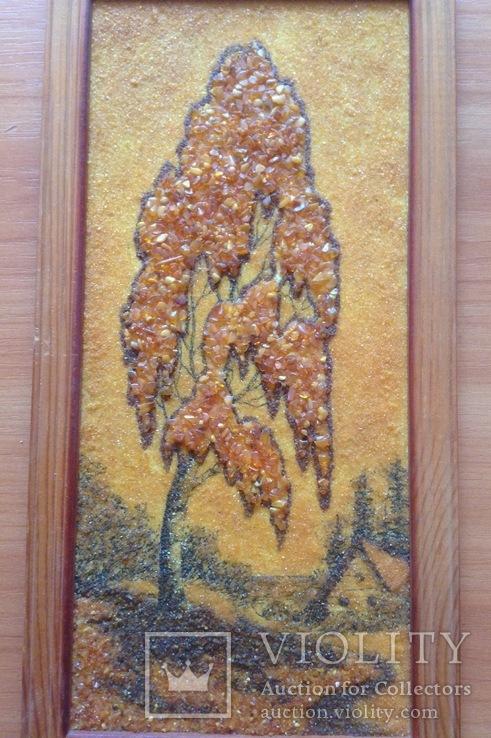 Картина Дерево. Янтарь., фото №3