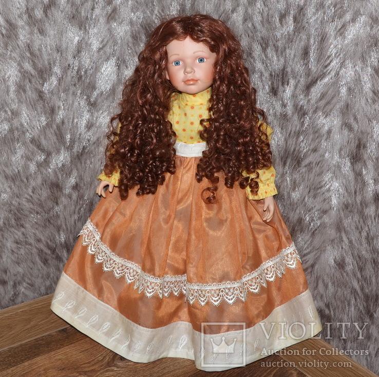 Большая (65см.) номерная фарфоровая кукла NJSF. Тяжёлая., фото №2
