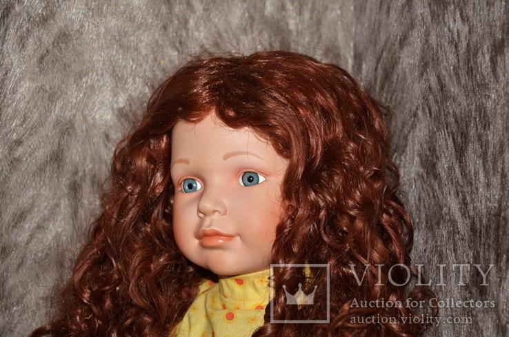 Большая (65см.) номерная фарфоровая кукла NJSF. Тяжёлая., фото №3