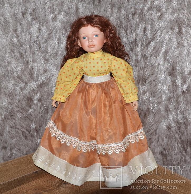 Большая (65см.) номерная фарфоровая кукла NJSF. Тяжёлая., фото №6