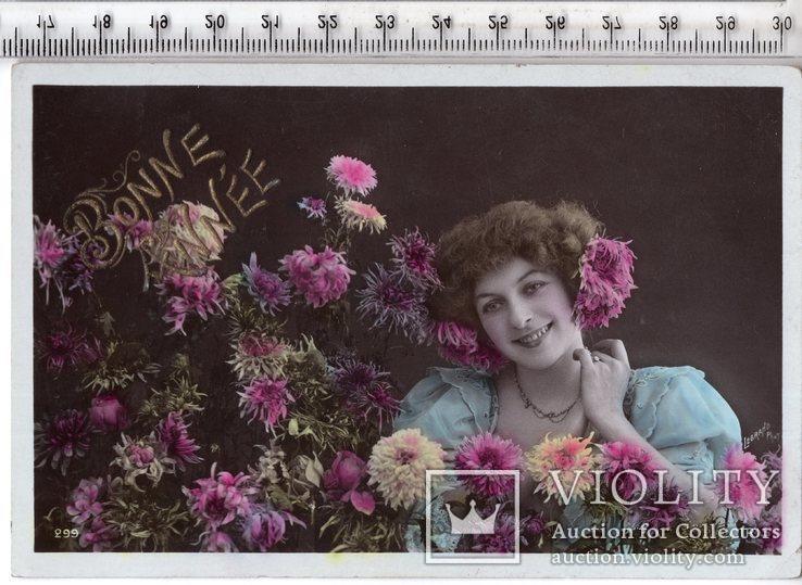 Старинная открытка. До 1945 годa. Дети. (3), фото №2