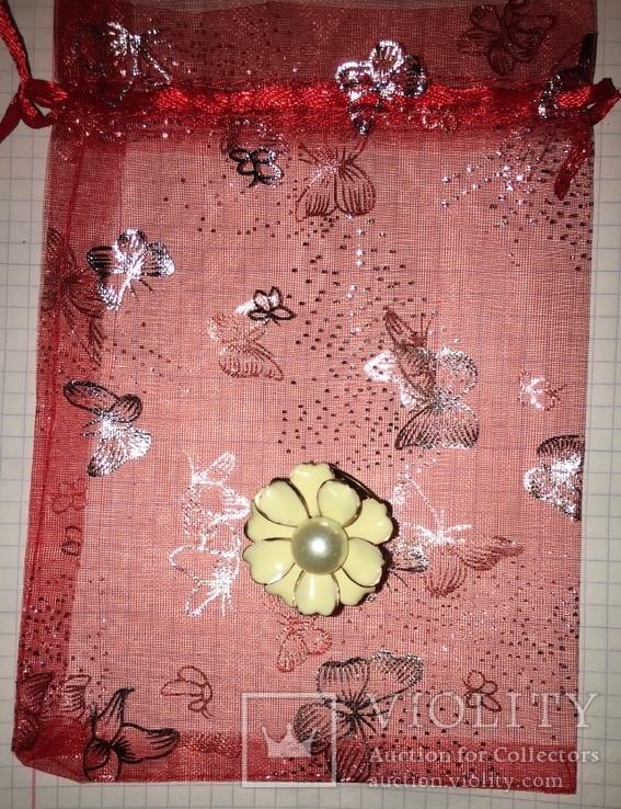 Кольцо, зажим для шарфа – Цветок + бонус, фото №2