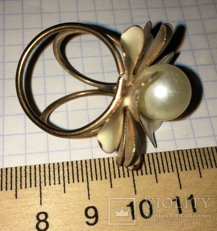 Кольцо, зажим для шарфа – Цветок + бонус, фото №4