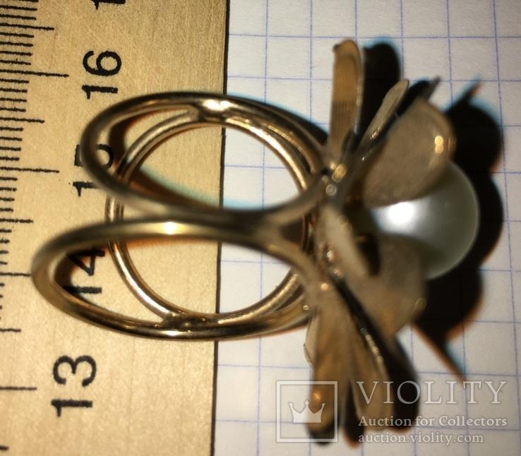 Кольцо, зажим для шарфа – Цветок + бонус, фото №7