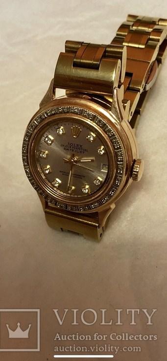 Годинник Rolex (репліка), золотий, фото №4