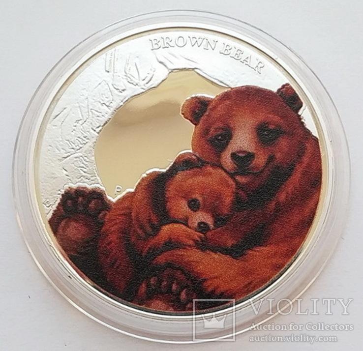 Тувалу. Медведь. 50 центов 2014 г. Копия, фото №2