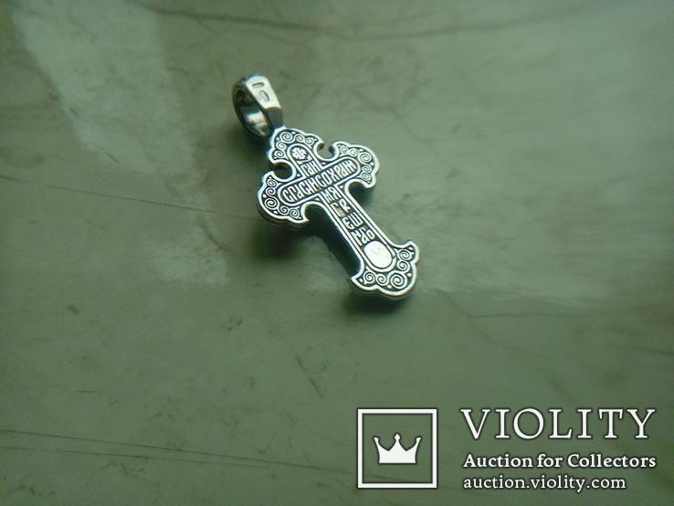 Хрестик срібний 4,95 г., фото №4