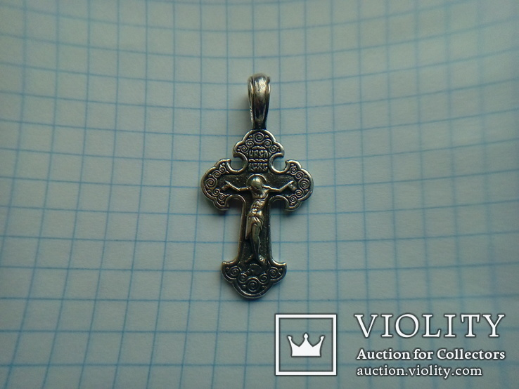 Хрестик срібний 4,95 г., фото №5