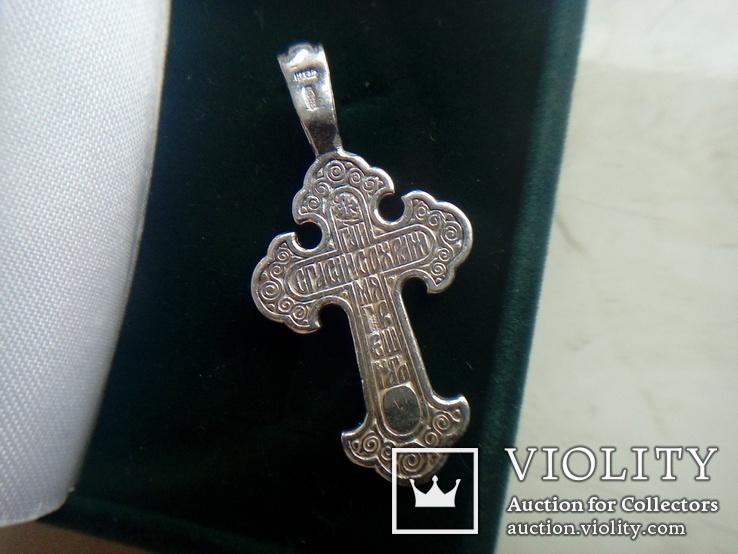 Хрестик срібний 4,95 г., фото №6