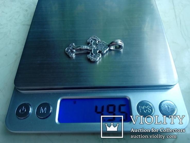 Хрестик срібний 4,95 г., фото №7