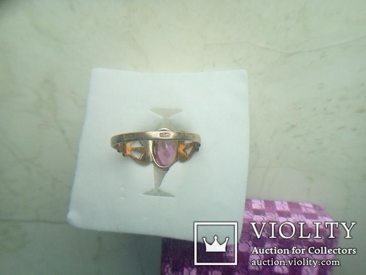 Перстень срібний СССР р. 19, фото №4