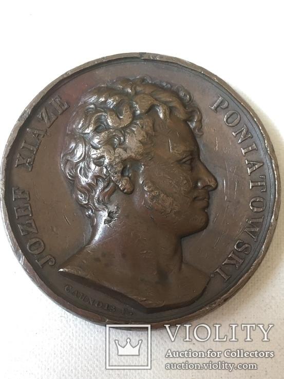 Настольная медаль Й. Понятовскому, фото №2