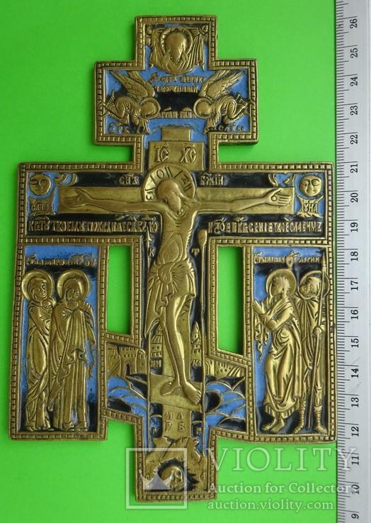 Крест 19 век, Пластика, эмаль.