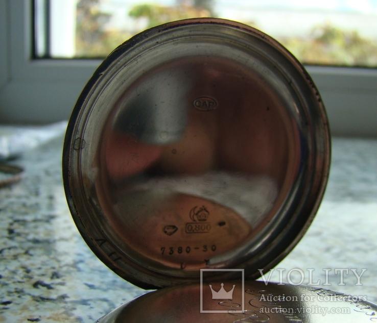 Часы карманные Швейцария ALPINA Union Horlogere 1900 г. серебро НА ХОДУ, фото №5