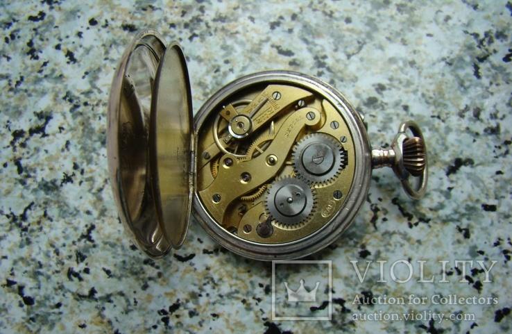 Часы карманные Швейцария ALPINA Union Horlogere 1900 г. серебро НА ХОДУ, фото №6