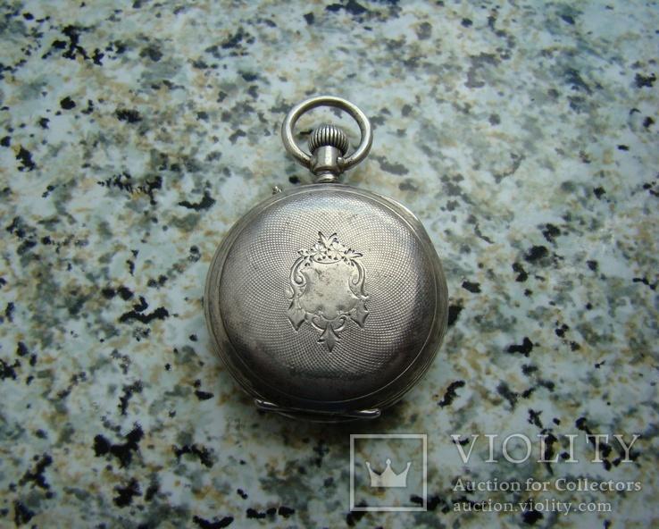 Часы карманные Andreas Huber Munchen 1890 г. серебро на ходу, фото №3