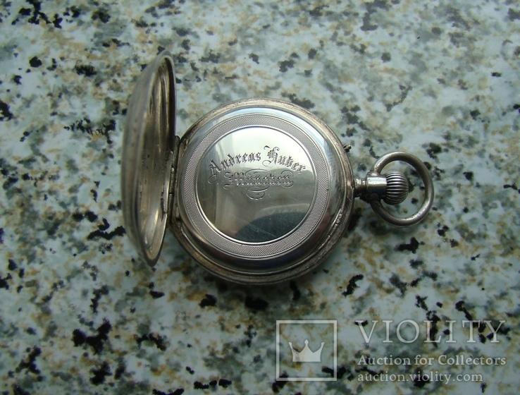 Часы карманные Andreas Huber Munchen 1890 г. серебро на ходу, фото №4