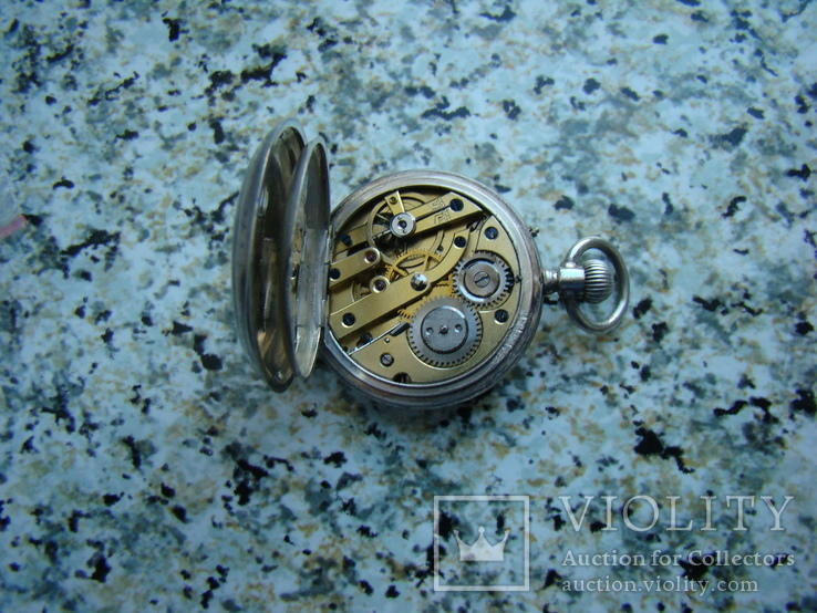Часы карманные Andreas Huber Munchen 1890 г. серебро на ходу, фото №7