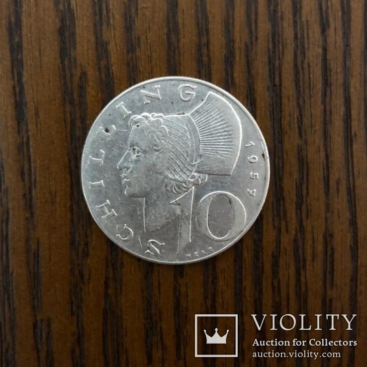 10 Шиллінг  1957р.  Срібло., фото №2