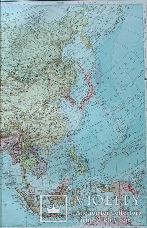 2 карты. Азия. Andrees HandAtlas. 1921 год. 56 на 44 см. (3), фото №6
