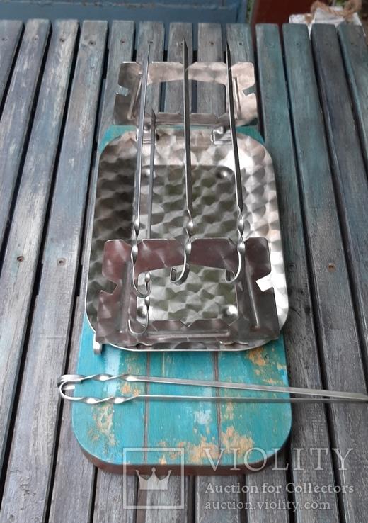 Мангал мини из нержавеющей стали,СССР, фото №3