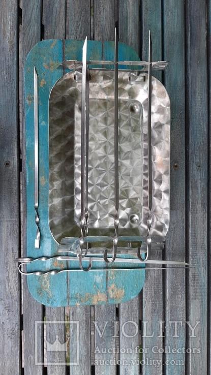 Мангал мини из нержавеющей стали,СССР, фото №4
