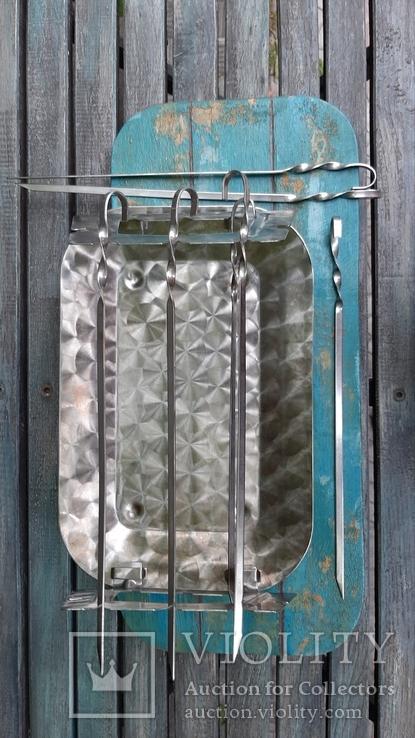 Мангал мини из нержавеющей стали,СССР, фото №5