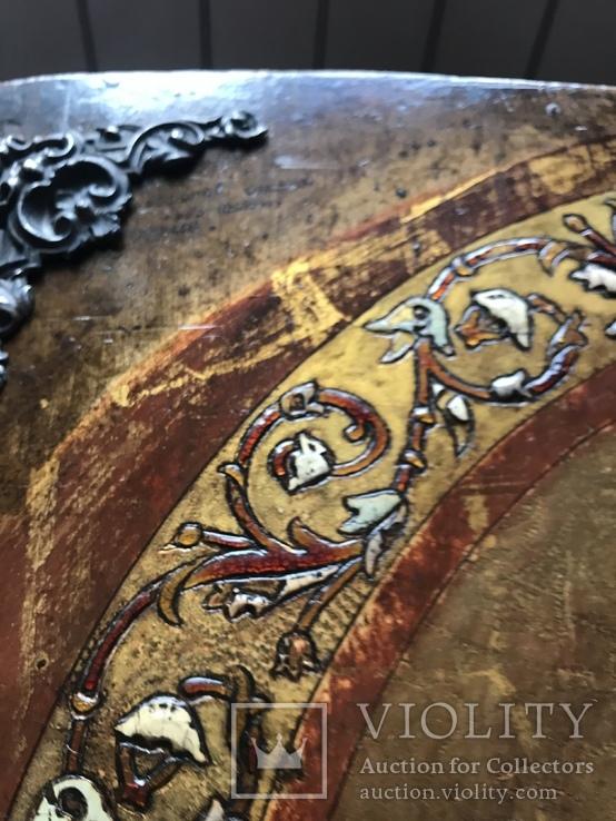 Иисус Христос - спаситель 19 век , с серебряными накладками, фото №6