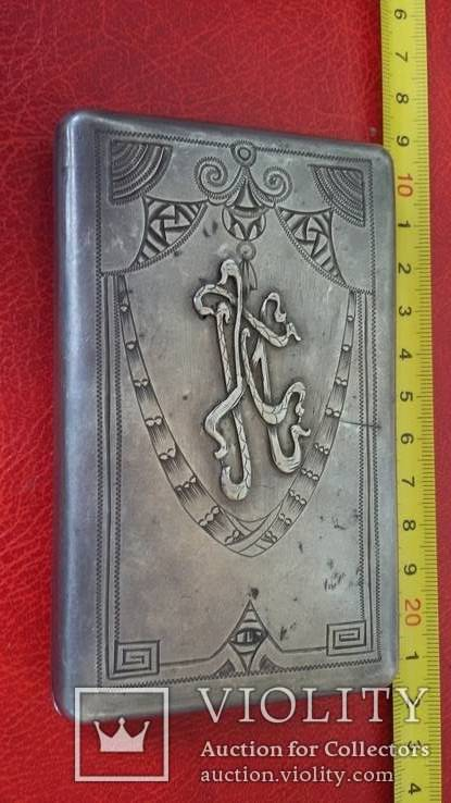 Портсигар в серебре  84 пробы, фото №2