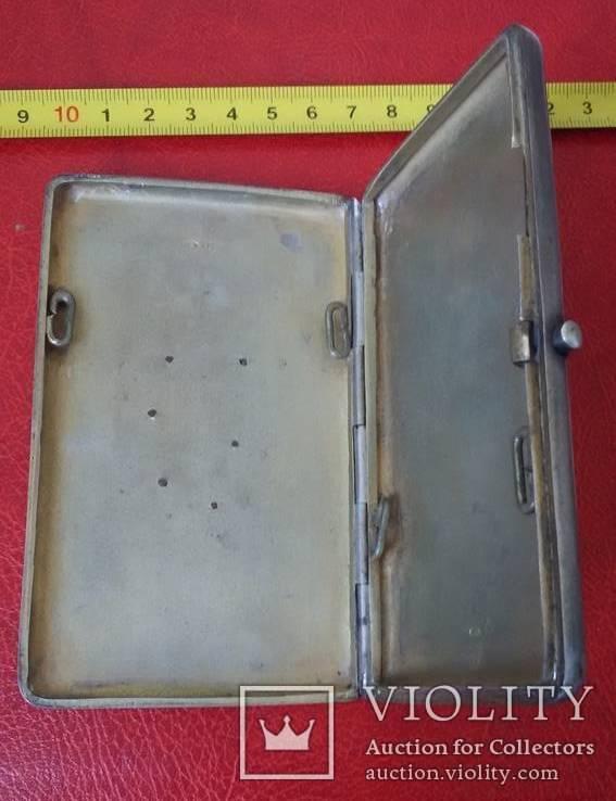 Портсигар в серебре  84 пробы, фото №4