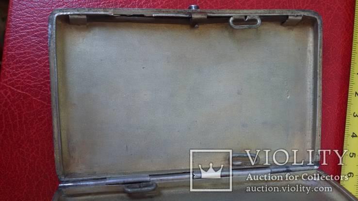 Портсигар в серебре  84 пробы, фото №6