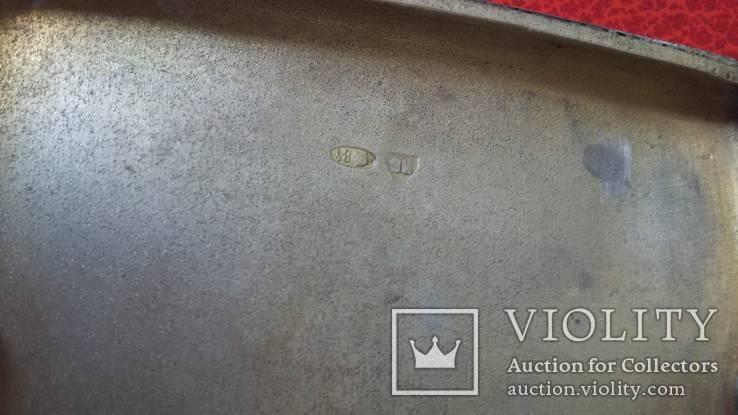 Портсигар в серебре  84 пробы, фото №10