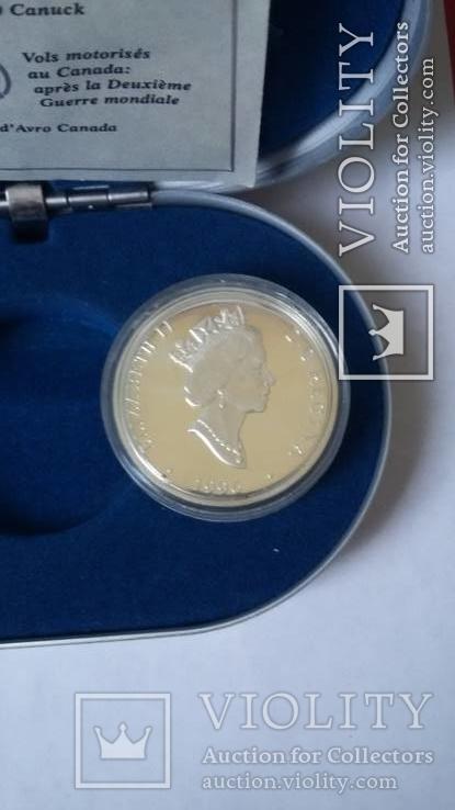 20 $ Канада,авиация , (31,1 гр.) в футляре, фото №13