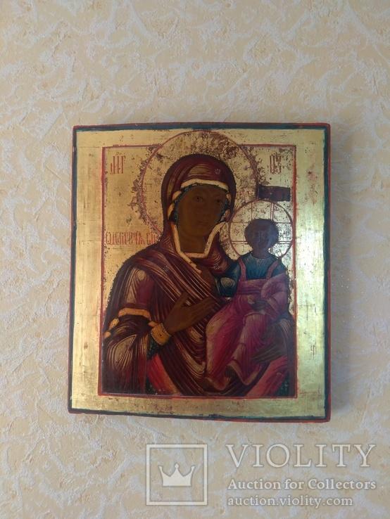 Икона Богоматерь Одигитрия. Конец 18-нач 19 в., фото №2