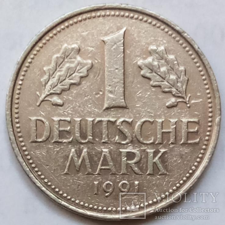 1 марка 1991 г. ФРГ, Мюнхен, фото №2