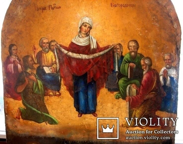 Старовинна ікона Покрови Пр. Богородиці, фото №3